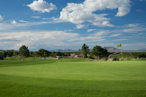 A view of the 14th green at Picacho Hills Country Club