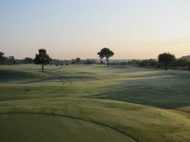 A view of a fairway at Riverside Golf Club