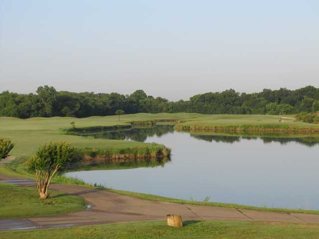 A sunny day view from Riverside Golf Club