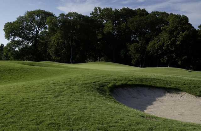 A view of a hole at Twin Creeks Golf Course