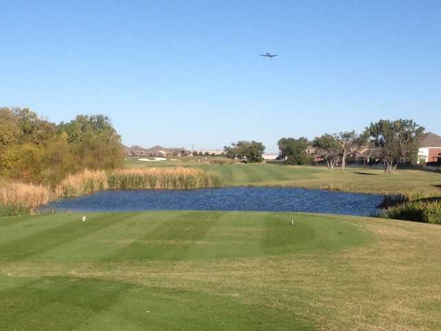 A view from a tee at WestRidge Golf Course