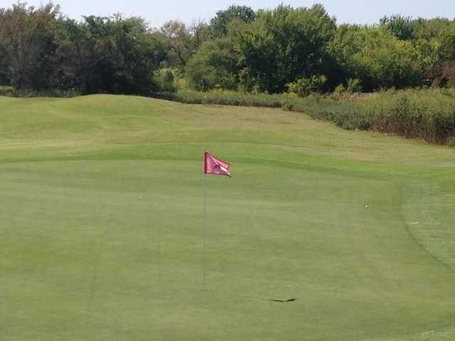 A view of a hole at WestRidge Golf Course
