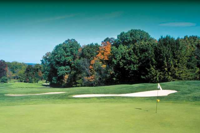 A view of hole #4 at Fox Hollow Golf Course
