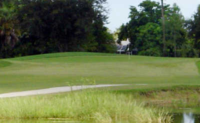 A view of a hole at Hibiscus Golf Club
