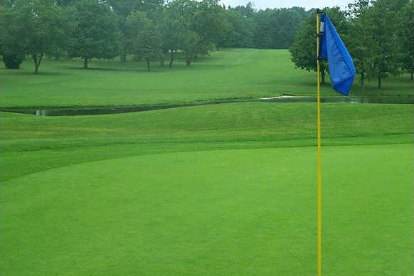 A view from a green at Elbel Park Golf Course (Michiana Golf)