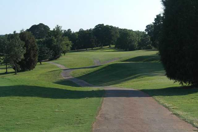 A view of the 1st fairway at LinRick Golf Course
