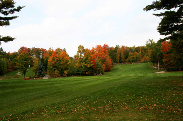 A view of a fairway at Pine Hills Golf Course