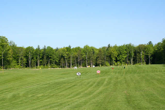 A view of the driving range at Pine Hills Golf Course