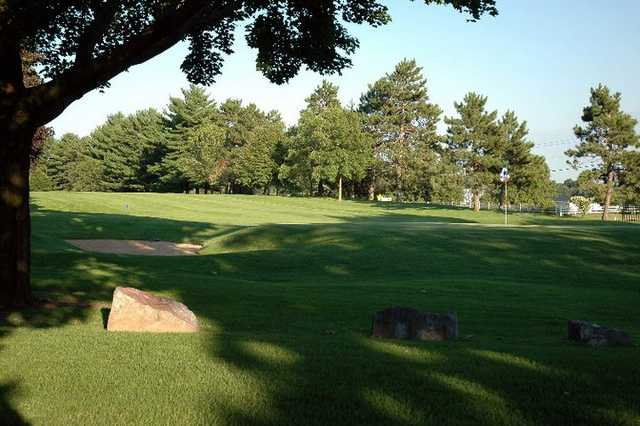A sunny day view from Reedsburg Country Club