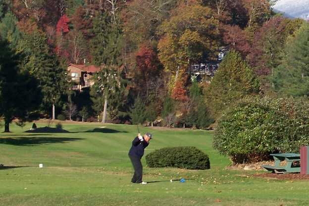 A view from a tee at Asheville Golf Course