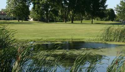 A view over a pond at Deer Creek Golf Club