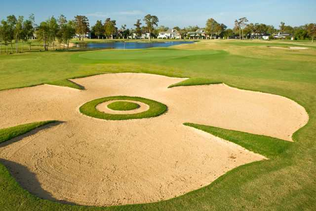 A view of the Maltese Falcon Bunker at Lakewood Golf Club