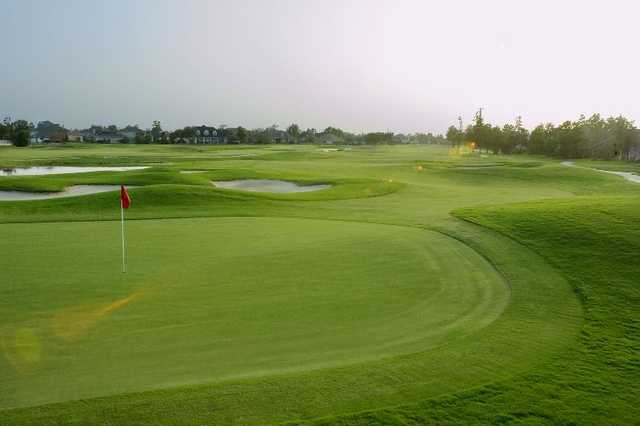A view of the 8th hole at Harvey 9 Course from Stonebridge Golf Club of New Orleans
