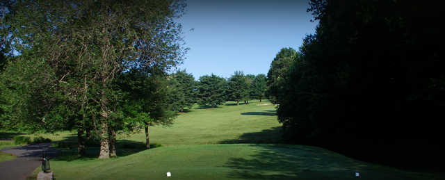 A view from a tee at Black from D. Fairchild Wheeler Golf Course