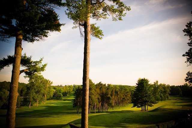A view of tee #1 and fairway #18 at Craigowan Golf Club.