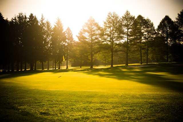 A view of green #4 at Craigowan Golf Club.