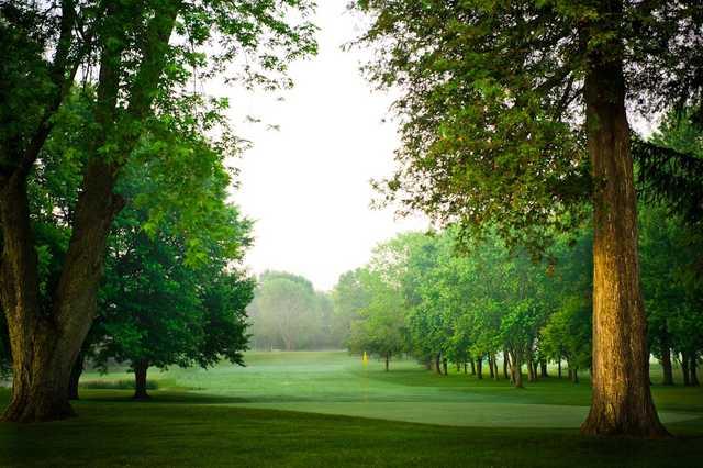 A view of the 7th green at Craigowan Golf Club.