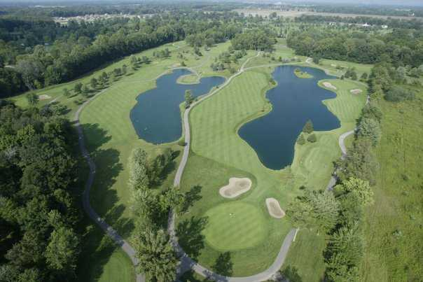 Aerial view from Sycamore Hills Golf Club