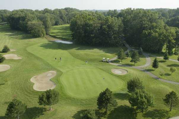 Aerial view of hole #3 at South from Sycamore Hills Golf Club