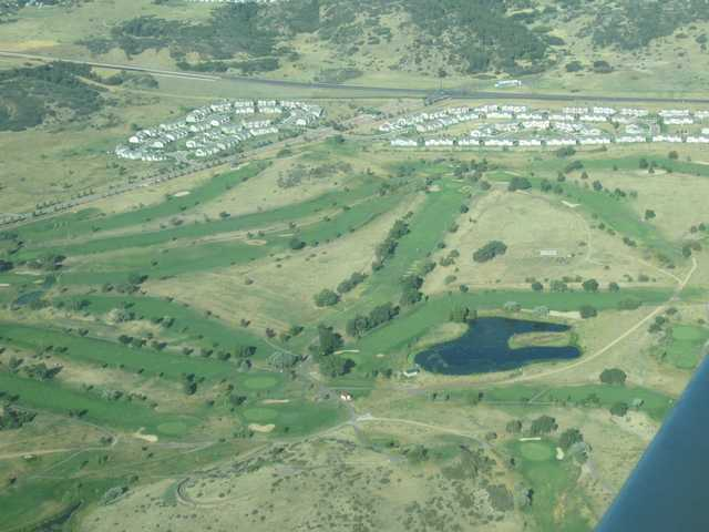 Aerial view of Cheyenne Shadows Golf Course (Robin Wininger)