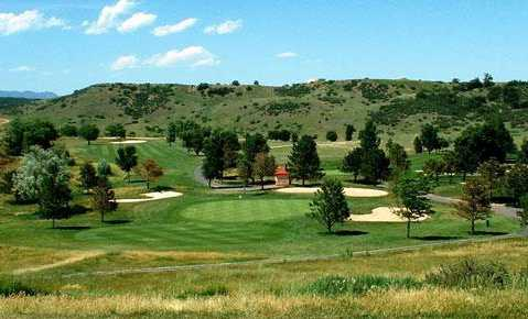 A view from the 5th tee at Cheyenne Shadows Golf Course