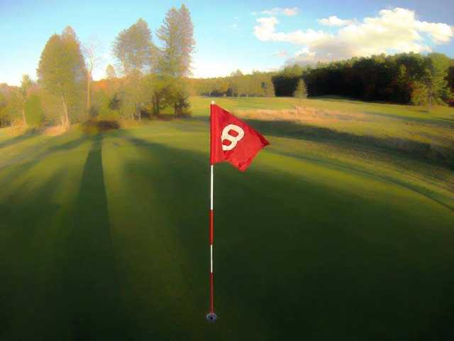 A view of the 8th green at Cliff Park Inn & Golf Course