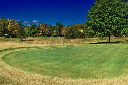 A view of the 3rd green at Cliff Park Inn & Golf Course