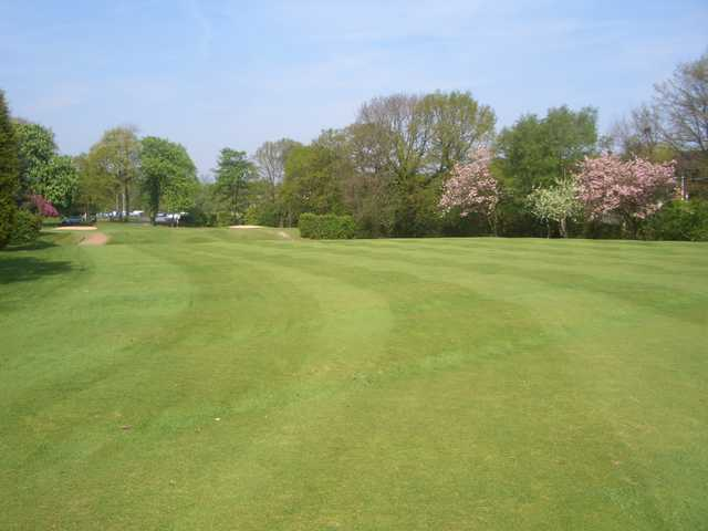 A view of the 9th fairway at Heaton Moor Golf Club