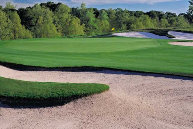 A view of a hole at Meadowbrook Farms Golf Club