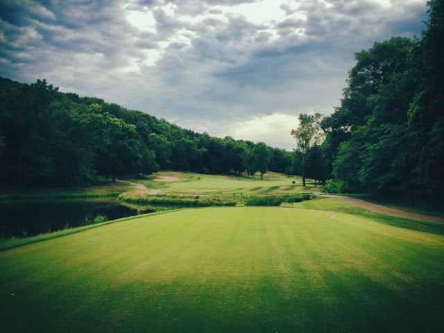 A view from tee #1 at Mountain from Osage National Golf Club