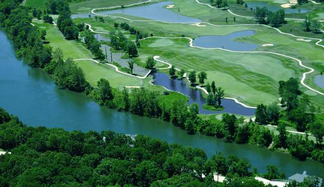 Aerial view from Osage National Golf Club