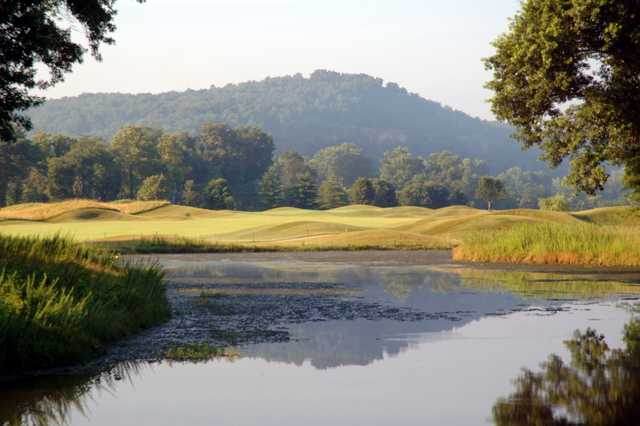 A view over the water from Osage National Golf Club