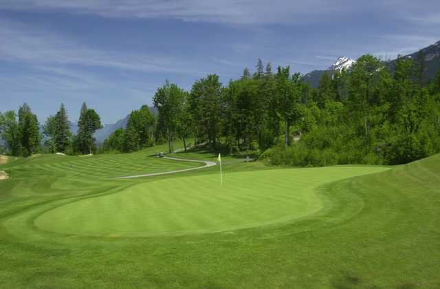 A view of the 3rd green at The Falls Golf Club.