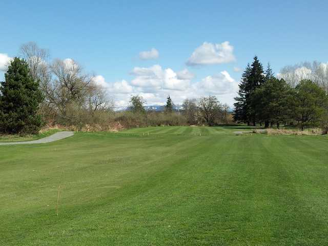 A view from a fairway at Blue Heron Golf Course