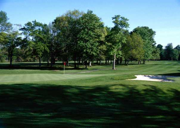 A view of green #16 at Tannenhauf Golf Club