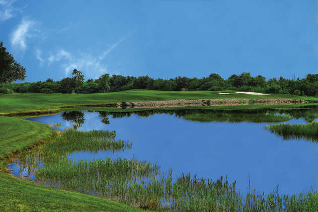 A view over the water from Tatum Ridge Golf Links
