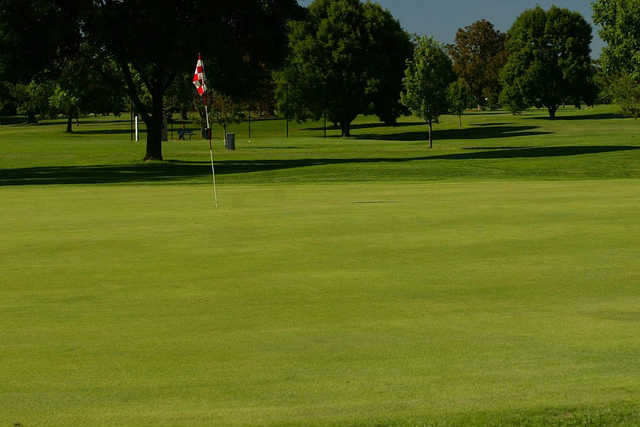 A view of a hole at Madison Golf Course
