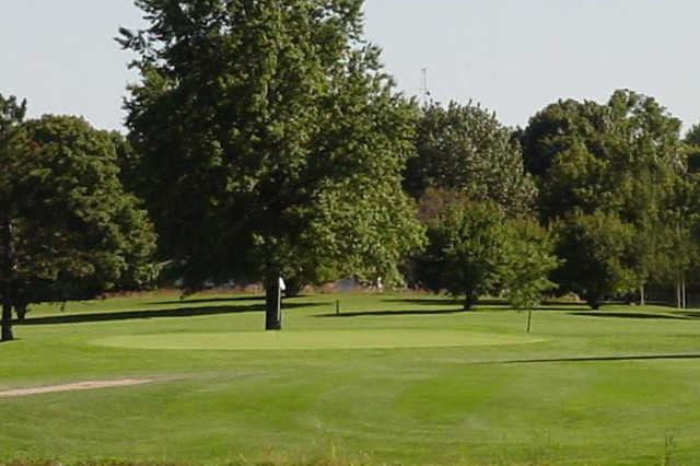 A view of a hole at Newman Golf Course