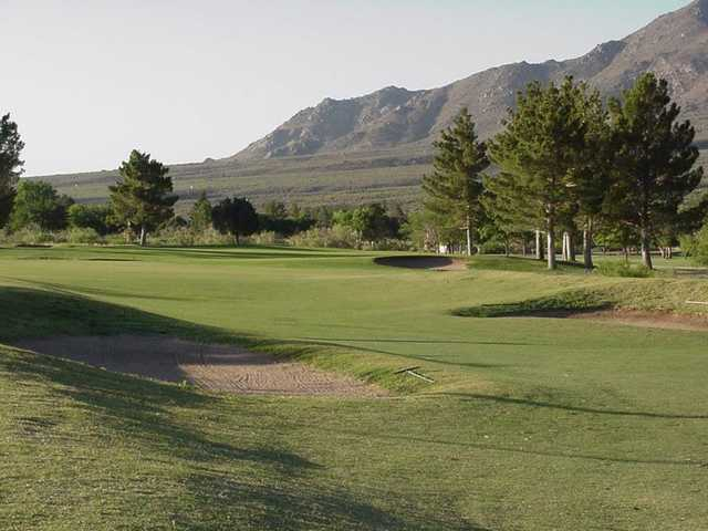 A sunny day view from White Sands Golf Course