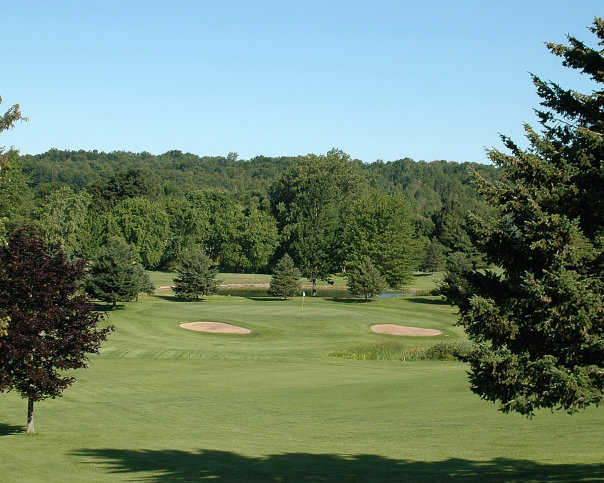 A view of the 9th green at Camillus Hills GC