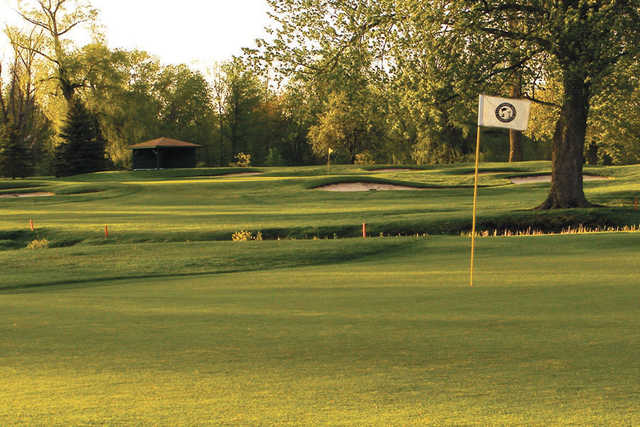 A view of the 16th green at LakeShore Yacht & Country Club.