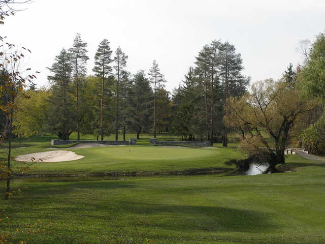A view of green #4 at Owasco Country Club