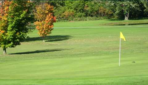 A view of a green at Meadowbrook Golf Club