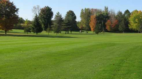 A view of a fairway at Meadowbrook Golf Club