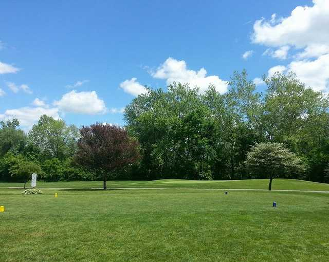 A view of a tee at Gahanna Golf Course