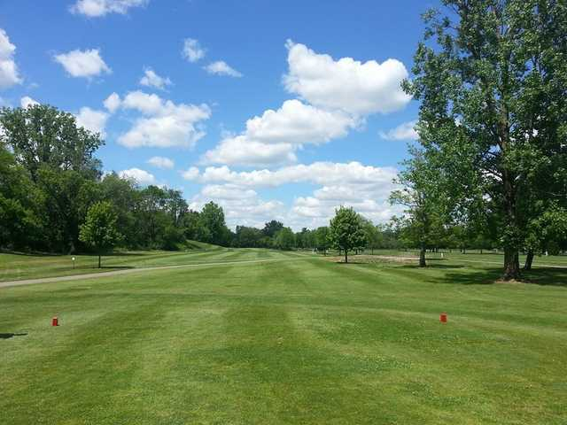 A view from a red tee at Gahanna Golf Course
