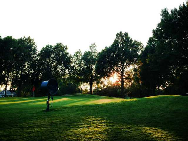 A view of a green at Meadowbrook Country Club