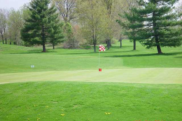 A view of a green at Eagles Nest Golf Course
