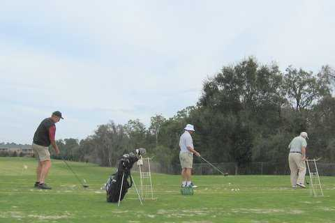 A view of the driving range at Lake Bess Country Club