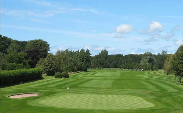 A view of a green at Lytham Green Drive Golf Club